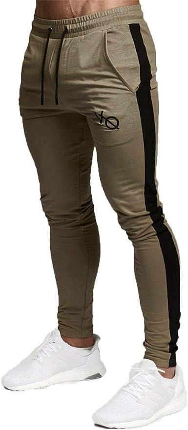 Nsdetyws - Pantalones de Deporte para Hombre (algodón, elásticos ...