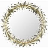 Safavieh Home Collection Sunray Circle Mirror, Antique Gold