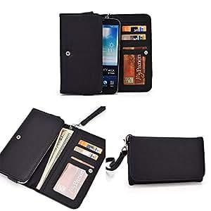 Smartphone Wallet fits Lava Iris 550Q | Textured Black