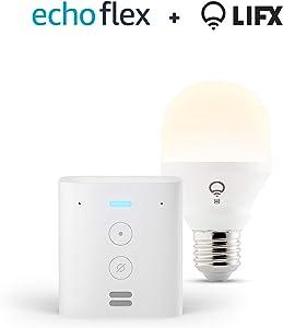 Echo Flex + bombilla inteligente LIFX Blanco