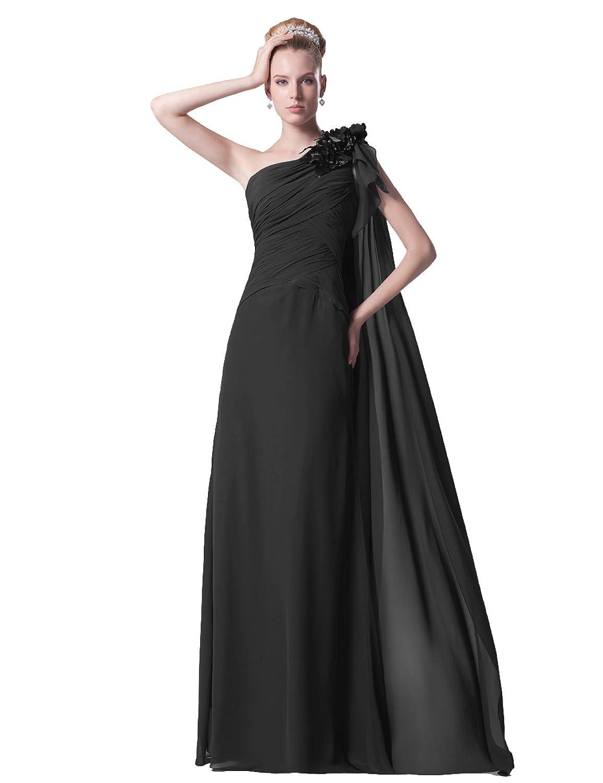 dresstells damen kleider ein tr ger lang chiffon. Black Bedroom Furniture Sets. Home Design Ideas