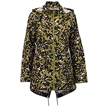524d1eb01fab Ladies Kagool Rain Jacket Brave Soul Womens Camo Coat Hooded Leopard Fish  Tail  Amazon.co.uk  Clothing
