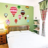 YUMULINN wallpaper stickers Wallpapers murals Wall stickers hot air balloon cartoon stickers wall stickers bedroom warm cartoon children room room decorations bed stickers, 50X70CM