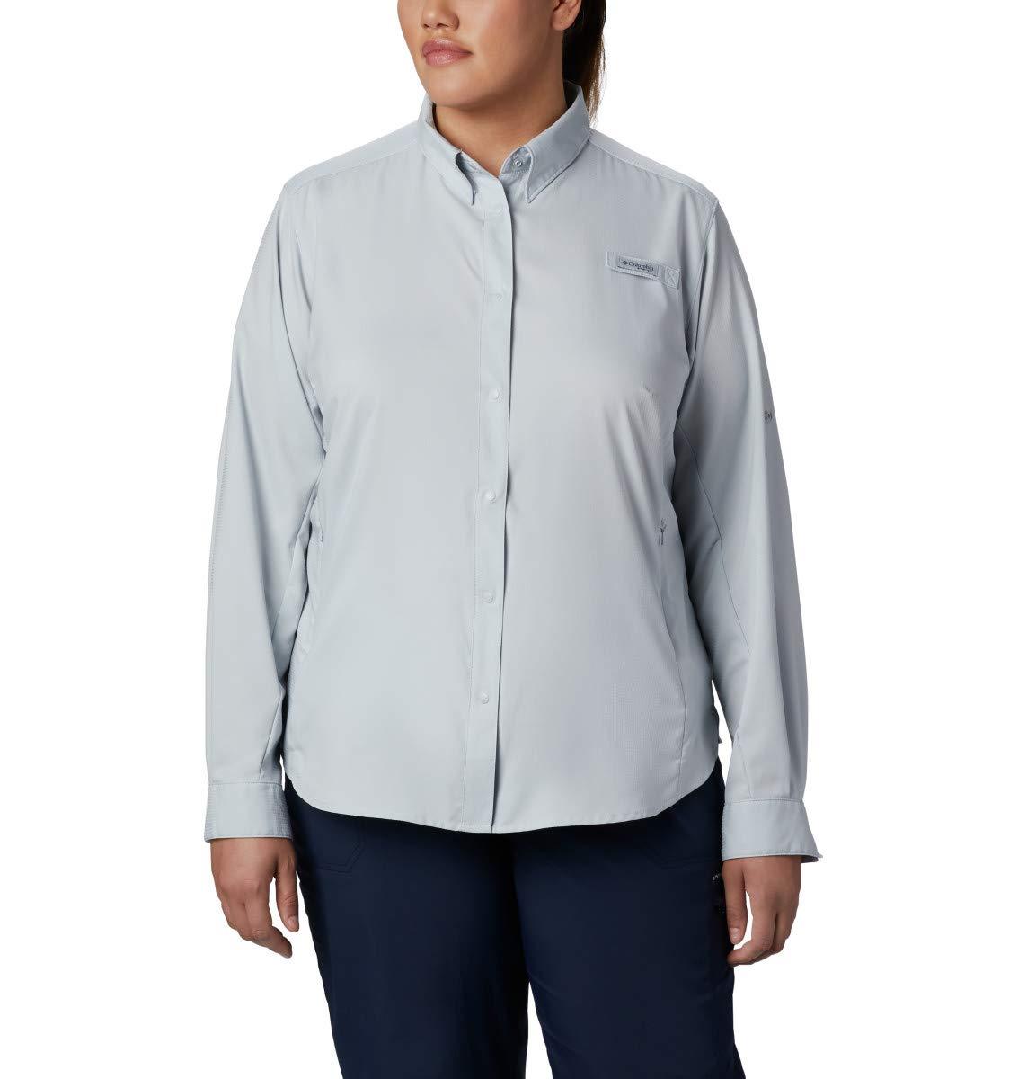 Columbia Women's PFG Tamiami II Long Sleeve Shirt , Cirrus Grey, X-Large by Columbia