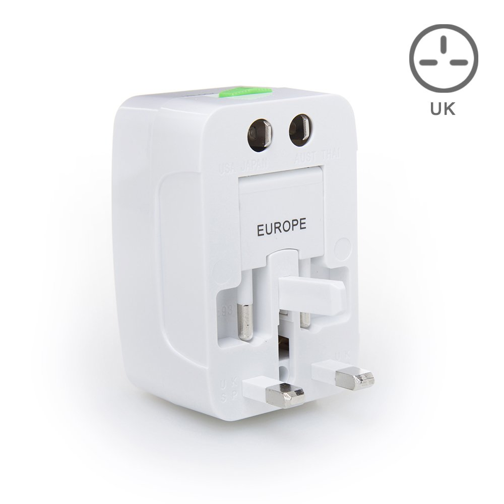 Us to uk ac power plug white black travel wall adapter plug converter - Amazon Com Maxah Mx Uc1 Surge Protector All In One Universal Travel Wall Charger Ac Power Au Uk Us Eu Plug Adapter Computers Accessories