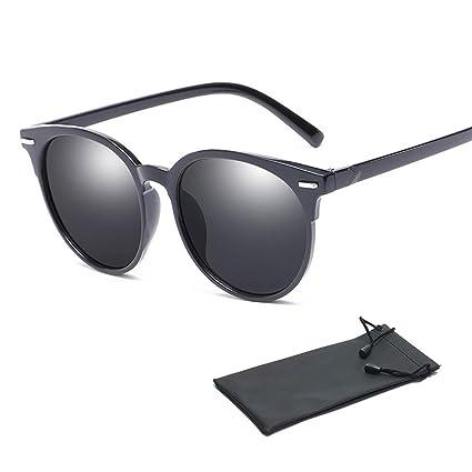 5962fc52119c Aolvo - Occhiali da sole vintage con montatura in corno, con lenti  polarizzate in policarbonato