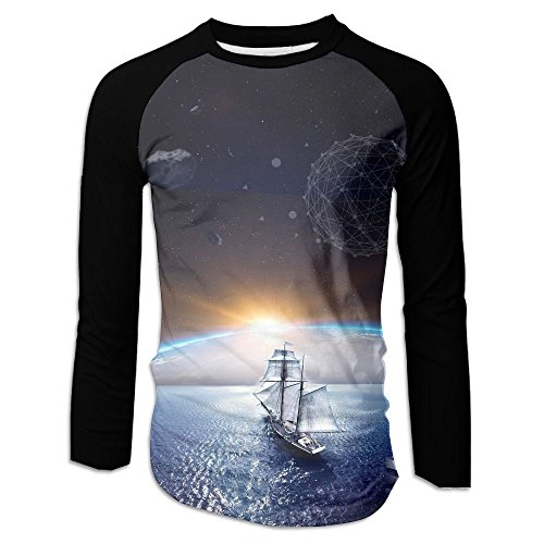 Adult Hope To Ship Long Sleeve Tshirt Novelty Baseball Tees For Home by XIA WUEY