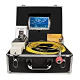 Pipe Drain Sewer Inspection Camera Industrial Endoscope HBUDS H30DVR Waterproof IP68 30M/100ft Snake Video System with 7 Inch LCD Monitor 1000TVL Sony CCD DVR Recorder (8GB SD Card Included)
