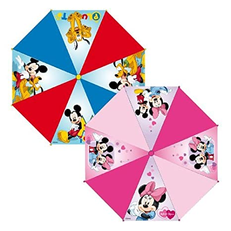 Paraguas Automatico Premium Mickey Mouse y Minnie surtidos: Amazon ...