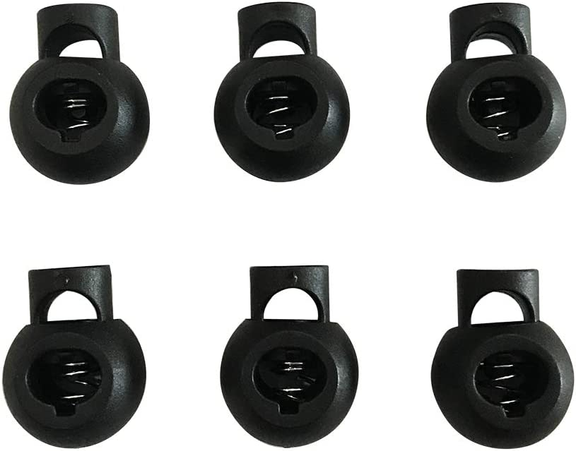 Amazon Com Zqmall Round Spring Cord Lock Black Plastic Toggle