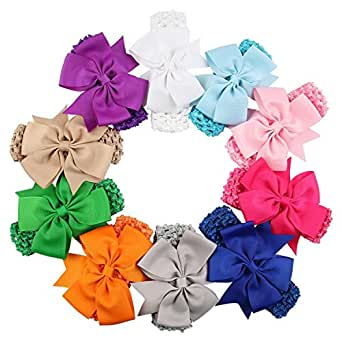 Qandsweet Baby Hairbands with Hair Bow