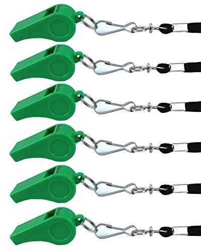 yueton Plastic Coach Whistles Lanyard