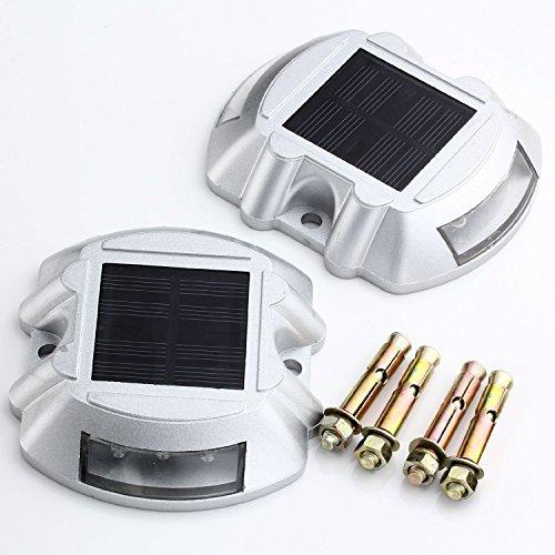 Led Driveway Lights High Illumination Solar Light Buy Blue: Solar Powered LED Marker Lights- Set Of 8- Decorative