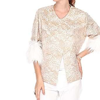 PolkaDotCat Gold Cotton Babydoll Coat For Women