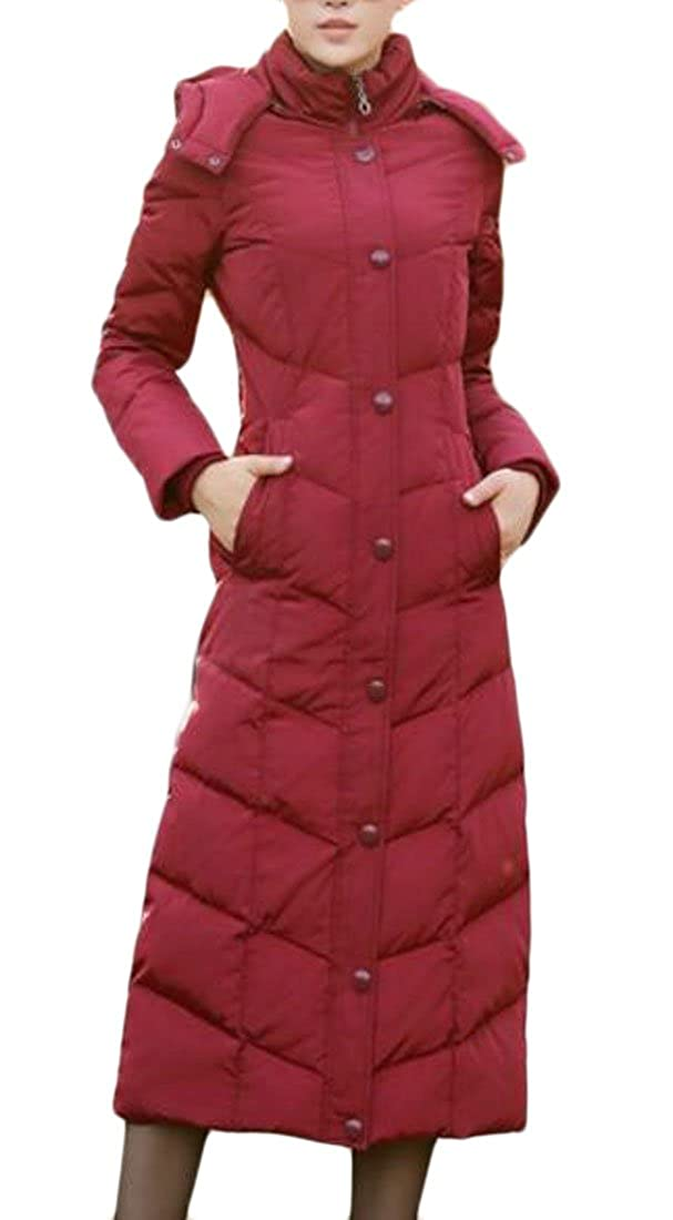 UUYUK-Women Water Resistance Puffer Winter Hooded Full Length Coat