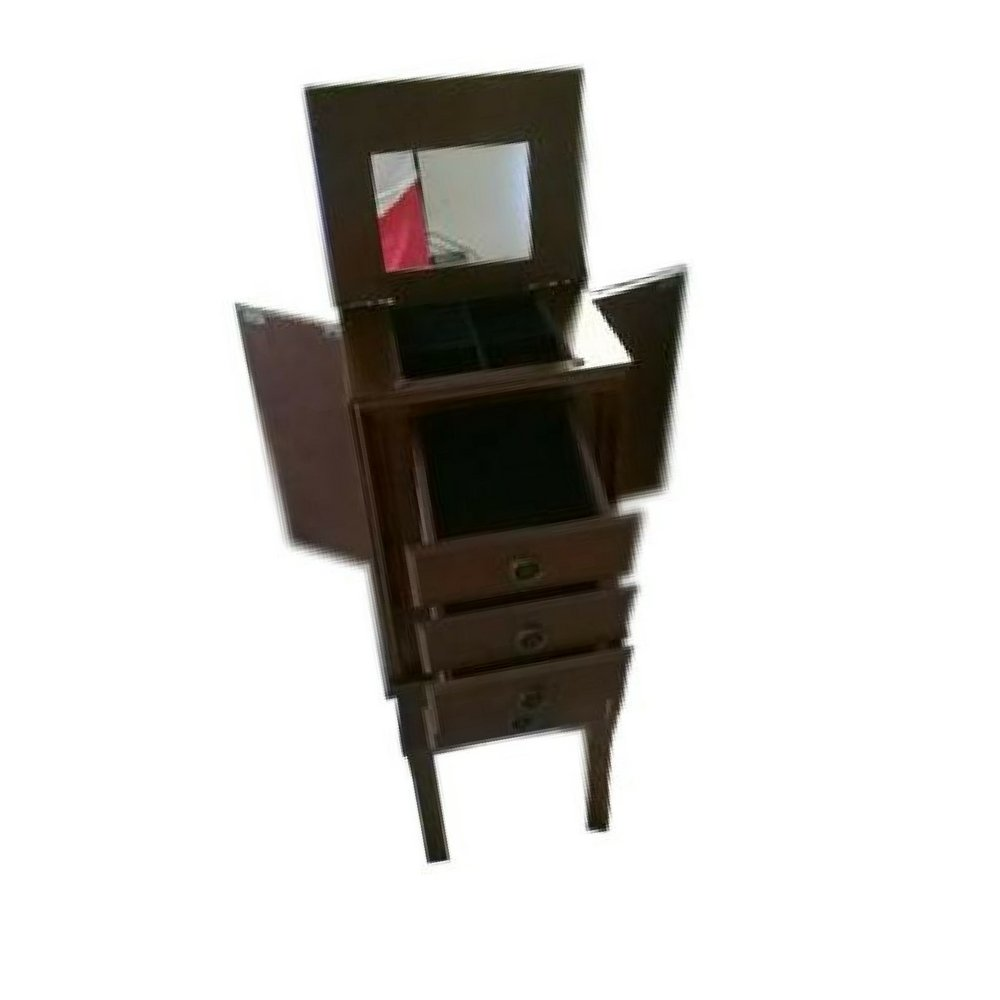 STS SUPPLIES LTD Mid Century Modern Jewelry Armoire Luxury Elevated Cabinet Drawers Swing Doors Antique Flip Top Mirror Indoor Bedroom Vanity Storage Furniture &Ebook by Easy2Find. by STS SUPPLIES LTD