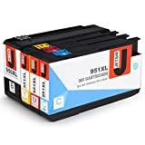 JetSir Replacement HP 950XL 951XL Ink Cartridge High Capacity 1 Set With Newest Chip Compatible with HP Officejet Pro 8610 8600 8620 8630 8100 8640 8660 8615 8625 251dw 271dw 276dw Printer