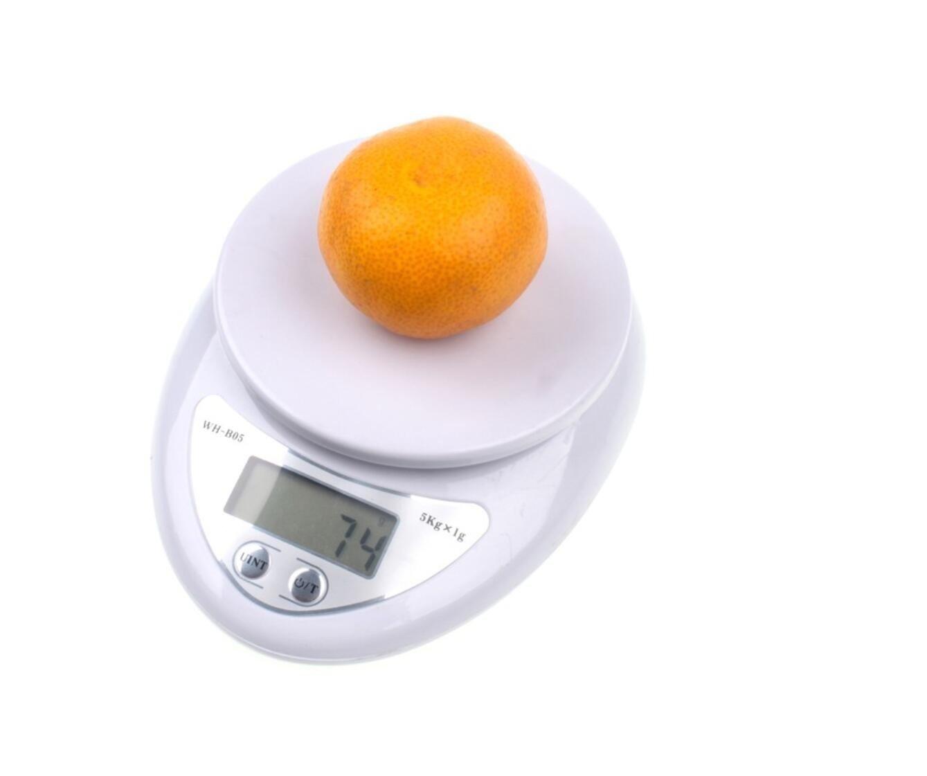 Tekanxc Báscula electrónica LED Dieta Cocina balanza digital balanzas de correos Herramientas de Cocina balanzas de cocina, una balanza electrónica,5000G/1G ...