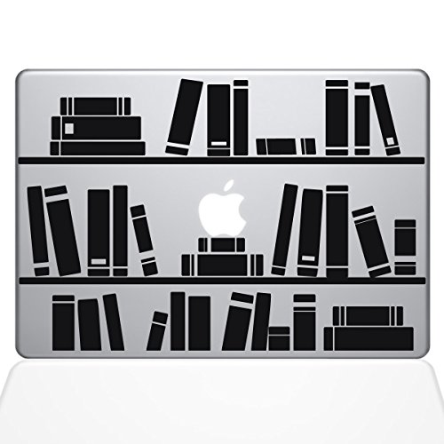 The Decal Guru 1649-MAC-13P-BLA Bookshelf Library Decal Viny