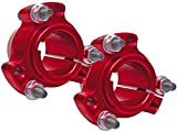 Set of 2 - Red 1'' Rear Lightened Aluminum Racing Wheel Hubs Go Kart Drift Trike
