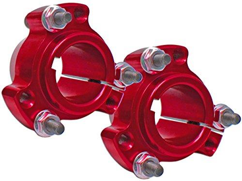 Set of 2 - Red 1'' Rear Lightened Aluminum Racing Wheel Hubs Go Kart Drift Trike by BMI Karts