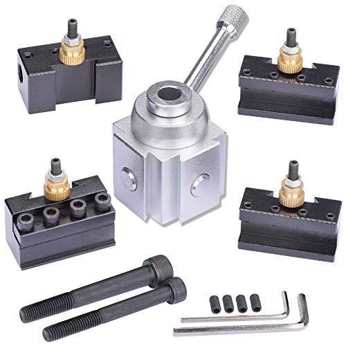 JWGJW 120034 Tooling Package Mini Lathe Quick Change Tool Post & Holders Multifid Tool Holder