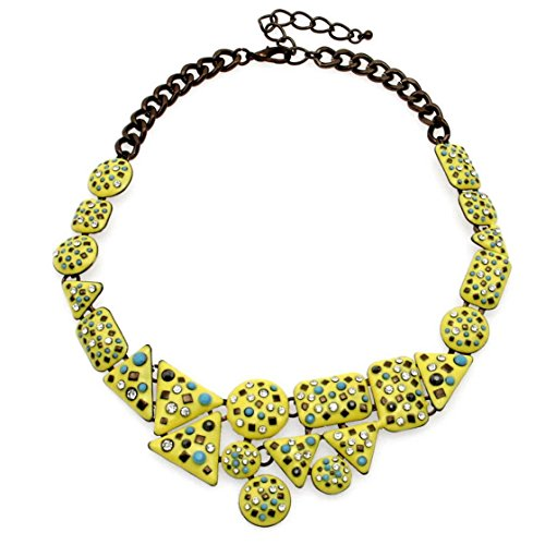 Mother Goose Costume Plus Size (PSNECK Fashion Charm Br Design Irregular Shape Rhinestone Chokers Collar Costume Statement)