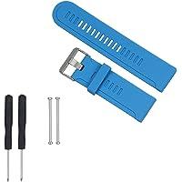 WEINISITE Bracelets de montres de sport Watch Bands Silicone souple sangle remplacement bande de montre avec outils pour Garmin Fenix/Fenix2/Fenix3/Fenix3 HR/Quatix/Quatix3/Tactix