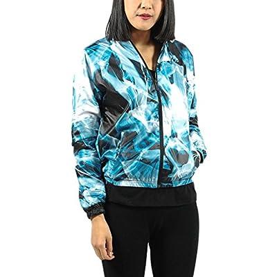 Puma Women's Urban Mobility Print Windbreaker XS Blue Aster