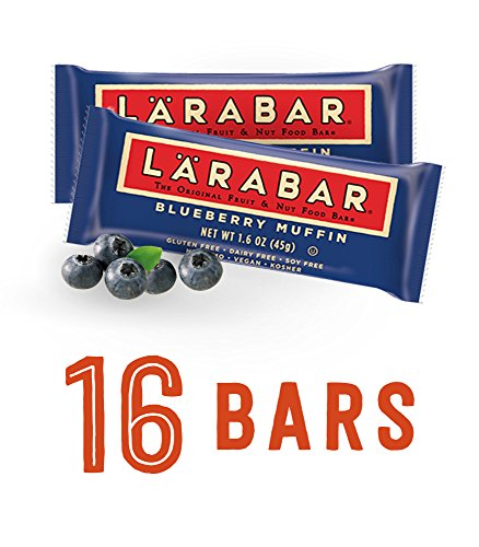 Kosher Muffins (Larabar Gluten Free Bar, Blueberry Muffin, 1.6 oz Bars (16)