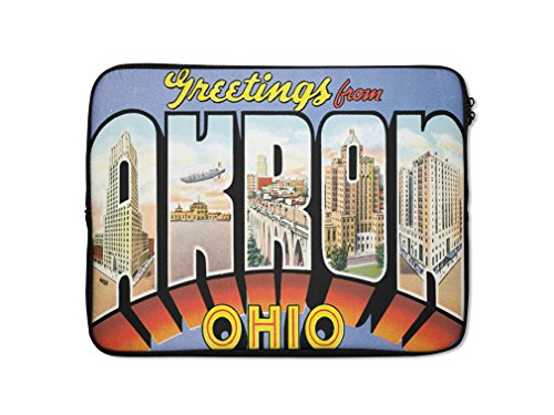 Greeting From Akron, Oh Laptop Ipad Sleeve Case Bag - 10 Style Akron