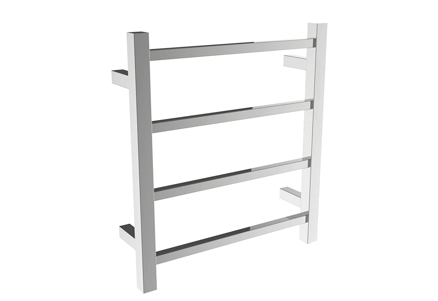 SHARNDY Towel Warmers Heated Towel Rail Square Bars ETW13-2A Towel Warmer for Bathroom Polish Chrome Ltd