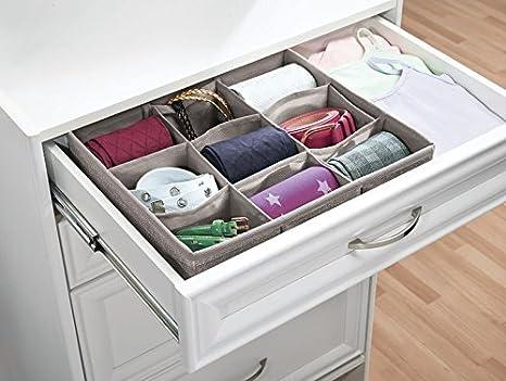 InterDesign Aldo - Organizador de Tela, para cajón de cómoda, para Almacenamiento en el Armario; Organiza Ropa Interior, soquetes, ...