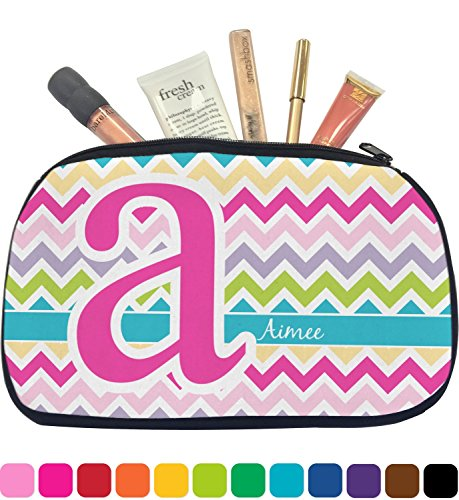 Colorful Chevron Makeup Bag - Medium (Personalized)