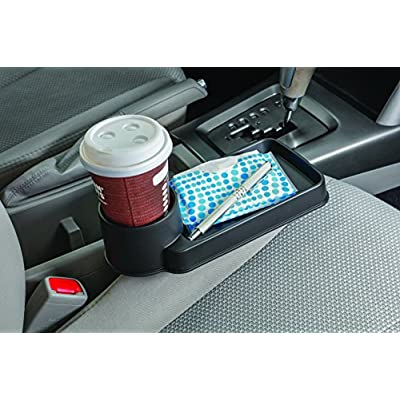 Ideas In Life Car Seat Wedge Tray – Multifunction Auto Cup Holder Universal Seat Wedge Design Holds Drinks Smartphones Food and More: Automotive
