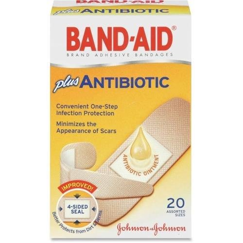 5570 Band-Aid Antibiotic Bandage - 20/Box - - Aid Band Bandages Antibiotic