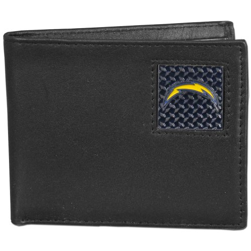 NFL San Diego Chargers Leather Gridiron Bi-Fold Wallet