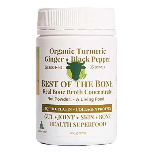 Marrow Bone Soup (Organic Beef Bone Broth Gelatin Turmeric & Black Pepper - Supports Joint Health, Boost Immunity - Fresh, Natural Ingredients for Delicious Paleo & Gluten Free Diet Friendly Broth Soup Stock)
