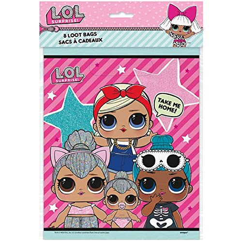 (Fancy Me Girls Birthday Party Loot Gift Bags Celebration Event L.O.L Surprise! LOL Toy Doll Party Tableware Decorations Accessories (Party Bags) )