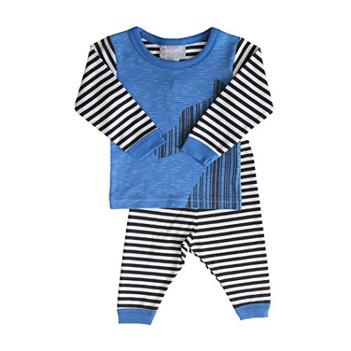 Pant and Top Set, Pewter Stripe Blue 6m ()