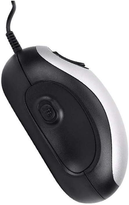 Lectura Lupa electrónica Mirador de ratón for lectura, Mini lupa de mano con USB 20x con pantalla de PC con cable y voz, Ancianos, Ayuda visual, E-reader, Ambliopía, Lupa negra plateada de baja visión