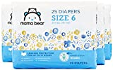 Amazon Brand - Mama Bear Diapers Size 6, 100 Count, Bears Print (4 packs of 25)