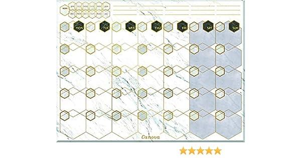 CANOVA hermoso diseño de mármol magnético borrable de borrado en ...