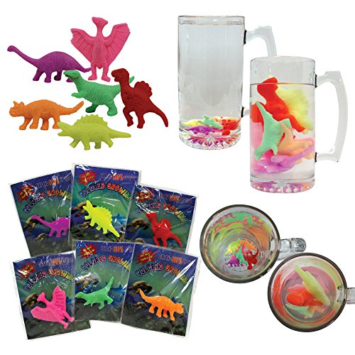 U.S. Toy Lot of 12 Assorted Water Growing Dinosaurs