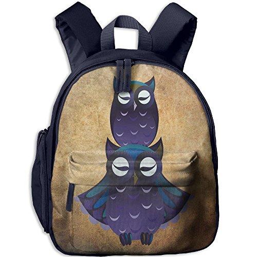 Cool Daily Pellet (Two Blue Owls Pattern Kids Cool Backpack Children School Bag)