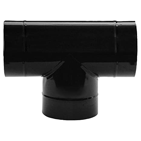 Wolfpack 22011139 Te Estufa Negro Vitrificado 150mm 90°