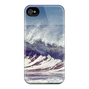 Durable Waves Back Case/cover For Iphone 4/4s by ruishername
