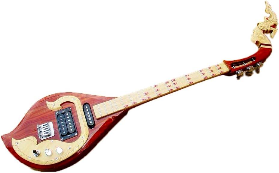 Isarn eléctrico Phin 3 cuerdas, Thai Lao guitarra instrumento ...