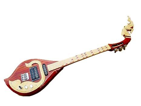 Isarn eléctrico Phin 3 cuerdas, Thai Lao guitarra instrumento musical, música tradicional tailandés pin42