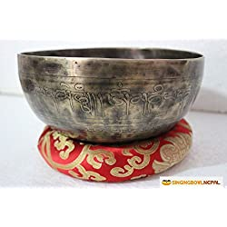 Singing Bowl Nepal Tibetan Meditation Om Mani Padme Hum Peace Singing Bowl From Nepal, 8 Inch